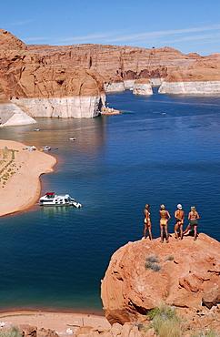 Tourists at Lake Powell, Arizona, USA