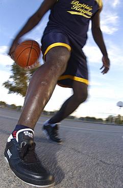 Basketball, Venice Beach, Los Angeles, California, USA