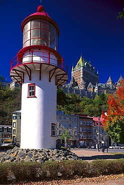 Lighthouse, Hotel Chateau Frontenac, Basse-Ville, Quebec City, Quebec, Canada, North Amrica, America