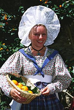 Provencialial traditional clothes, Bormes-les-Mimosas, Provence, France