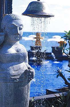 Shower at pool, Hotel Oberoi, Mauritius