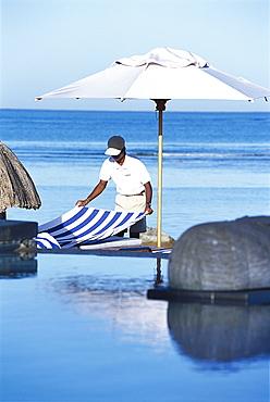 Service at Pool, Hotel Oberoi, Mauritius