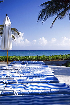 Deck chairs, Ritz Charlton Rose Hall, Montego Bay, Jamaica, Caribbean