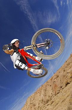 Mountainbiker, Bootleg Canyon, Bootleg Canyon, Nevada, USA