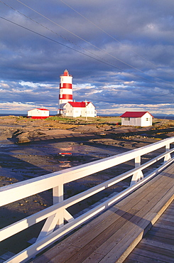 Lighthouse, Pointe-des-Monts, St. Lawrence River, Quebec, Canada