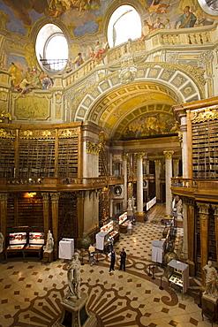 Prunksaal of the Nationalbibliothek National Libary, Vienna, Austria