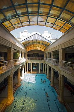 View inside the Gellert Baths, View inside the Gellert Baths, Buda, Budapest, Hungary