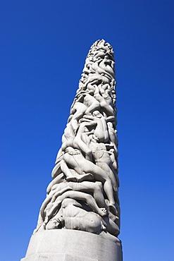 Monolith, erotic sculpture by Gustav Vigeland in Vigeland Park, Oslo, Norway