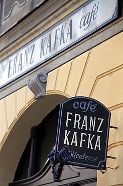Franz Kafka Cafe, old town, Prague, Czech Republic, Europe