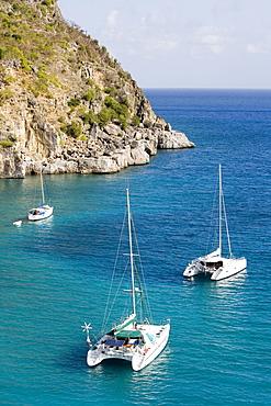 Yachts anchored off Shell Beach, Gustavia, St. Barths