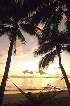 Hammock Relaxation at Sunset, The Westin Denarau Island Resort and Spa, near Nadi, Fiji