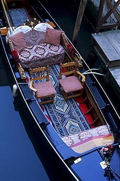 Splendid gondola in detail, Venezia, Italy
