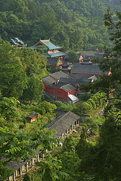 Purple Cloud temple, Zi Xiao Gong, Mount Wudang, Wudang Shan, Taoist mountain, Hubei province, UNESCO world cultural heritage site, birthplace of Tai chi, China