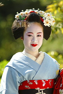 Portrait of a Geisha in Training, Maiko Masayo, Kyoto, Japan