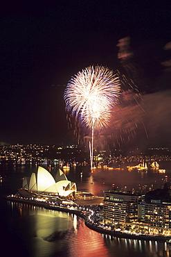 Sydney New Year's Eve Fireworks, Sydney, New South Wales, Australia