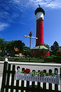 Museum in old lighthouse, Wangeroog, East Frisia, Germany