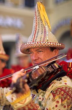 traditional costumes, Flinserl, carneval of Aussee, Bad Aussee, Salzkammergut, Styria, Austria