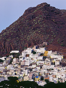 San Andres, village above man-made Playa de las Teresitas, Anaga Mountains, Tenerife Canary Islands, Spain