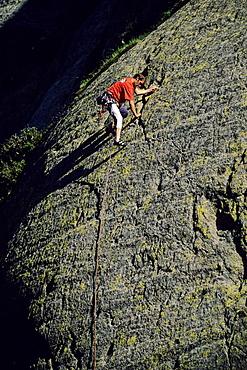 Freeclimbing at the Sustenpass, Bernese Oberland, Switzerland, Europe, MR