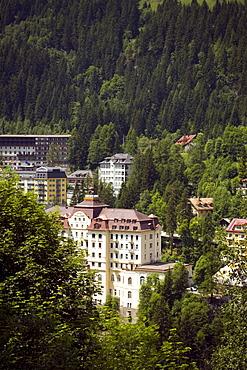 View to Grand Hotel de l'Europe, the casino, Bad Gastein, Gastein Valley, Salzburg, Austria