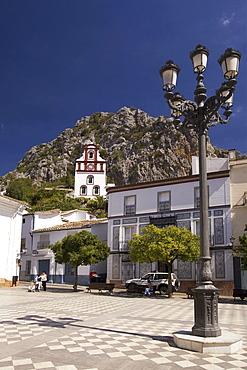 Spain Andalucia pueblo blanco Grazalema church