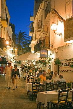 Spain, Baleares island, Ibiza Dalt Vila restaurants