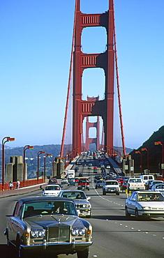 California San Francisco goln gate bridge traffic Rolls Rocse
