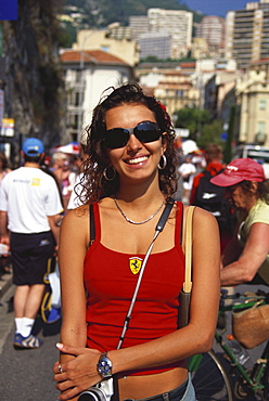 Young female Fan, Formula 1 Grand Prix, F1, Monte Carlo, Monaco, Europa
