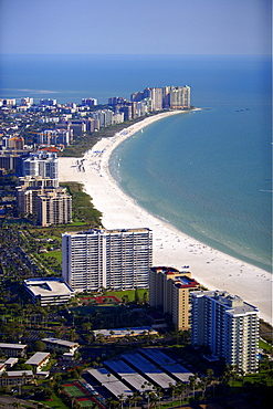 Aerial view of Marco Island, Florida, USA