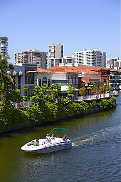 Boat ride in Venetian bay, Naples, Florida, USA