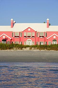 Beach home on Gulf Shore boulevard in Naples, Florida, USA