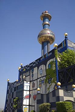 Vienna Spittel Hundertwasser building in Spittelau