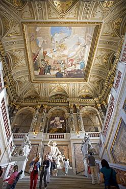 Vienna Kunsthistorisches Museum Historic Art Museum interieur ceiling Fresco