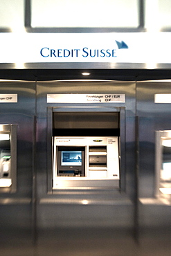 Zurich Bank Credit Suisse interieur, ATM
