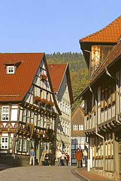 Stolberg, half-timbered building, Harz mountains, Saxony Anhalt, Germany