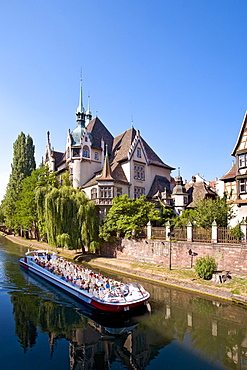 Lycee International on the river Ill, Strasbourg, Alsace, France