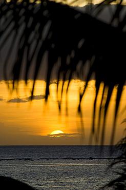 Sunset over Tamarin Bay, Hotel Taj Exotica Resort & Spa, Mauritius