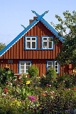 traditional fisherman house, Nida (Nidden), Curian spit, Lithuania