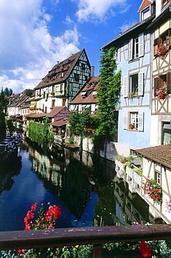 Little Venice in the Oloed Town, Quartier de la Krutenau, Colmar, Alsace, Haut-Rhin, France