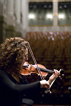 Violinist, Prinzregententheater, Munich, Bavaria, Germany