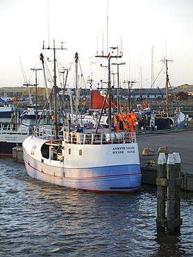 Trawler in the Harbour of Hvide Sande, Jutland, Denmark
