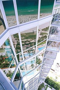 Exterior Wall, Hotel Setai, South Beach, Miami, Florida, USA