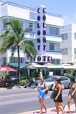 Colony Hotel, Ocean Drive, South Beach, Miami, Florida, USA