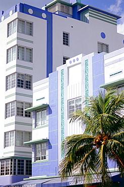 Art Deco Architecture, Ocean Drive, South Beach, Miami, Florida, USA