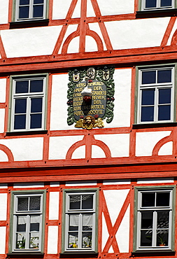 Half timbered historic house, Staendehaus in Schmalkalden, Thuringia, Germany