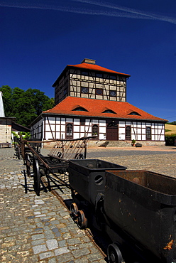 Historical melting furnace museum, Neue Huette, Schmalkalden, Thuringia, Germany