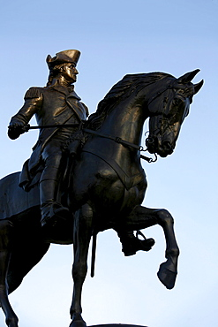 A statue of General George Washington, Public Garden, Boston, Massachusetts, USA