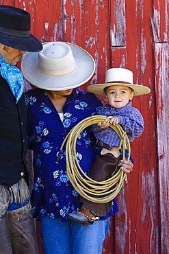 cowboy-family, wildwest, Oregon, USA