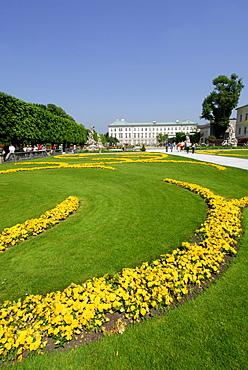 castle Mirabell with Mirabell garden, Salzburg, Austria