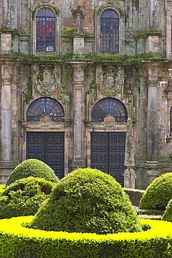 Praza de Inmaculada, north side of the cathedral, Santiago de Compostela, Galicia, Spain